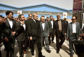 حضور دکتر علی لاریجانی در مراسم افتتاح کارخانه آجر نسوز آذرخش قم