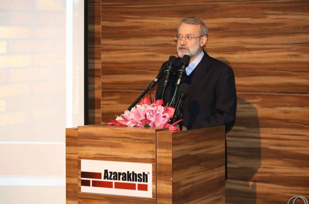 افتتاح کارخانه چهارم آجرنسوز آذرخش با حضور دکتر علی لاریجانی