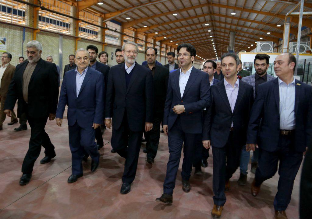 مراسم بازدید و افتتاحیه فاز 4 کارخانه مدرن آجر نسوز آذرخش با حضور دکتر علی لاریجانی
