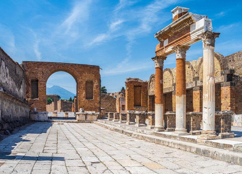 تاریخچه آجر و معماری آجری در دوران رومیها پمپئی