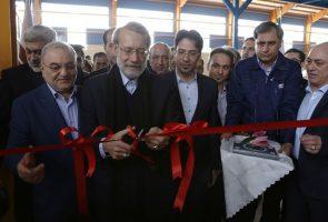 افتتاح فاز 4 طرح توسعه گروه بین المللی کارخانجات آذرخش با حضور دکتر علی لاریجانی