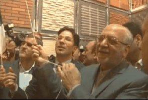 وزیر صنعت از بزرگ ترین تمثال چهره امام خمینی (ره) رونمایی کرد