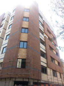 پروژه نما آجری ساختمان خیابان فاطمی