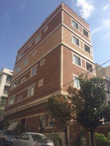 پروژه آجرنسوز نما ساختمان بزرگراه حکیم - تهران