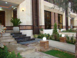پروژه نما آجرنسوز و محوطه سازی ساختمان سعادت آباد