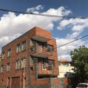 پروژه نما آجرنسوز ساختمان مسکونی - سمنان