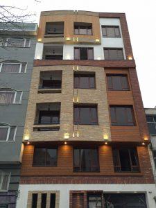 پروژه اجرای نما ساختمان آجرنسوز صادقیه - تهران