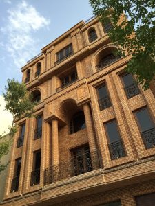 پروژه نمای آجری ساختمان آزادی - اصفهان