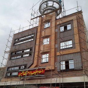 پروژه اجرا آجرنسوزنما ساختمان اداری - کرج