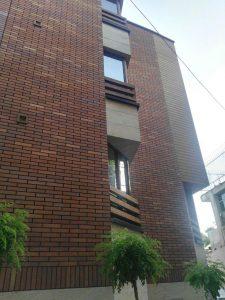 پروژه اجرای نمای ساختمان آجرنسوز - تهران جماران