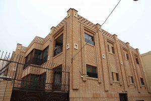 پروژه اجرای نما آجر رستیک ساختمان مسکونی - اصفهان
