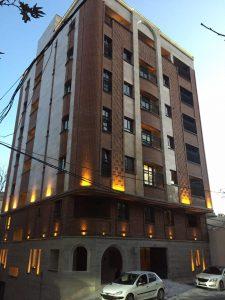 پروژه اجرای نما آجرنسوز ساختمان مسکونی - نیاوران