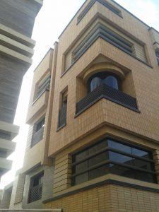 پروژه اجرای آجرنسوز نما مجتمع مسکونی - اصفهان