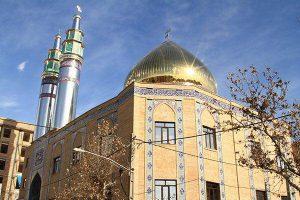 پروژه اجرای آجرنسوز نما مسجد خاتم الانبیا - تهران
