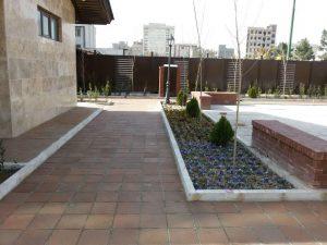 پروژه اجرای محوطه سازی کف با آجرنسوز - شهرداری منطقه 9 تهران