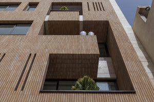پروژه اجرای نمای آجرنسوز ساختمان کاشانه - اصفهان