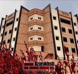 پروژه اجرای نما آجرنسوز هتل اطلس - شاهین شهر