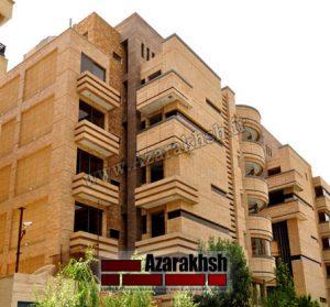 پروژه اجرای نما آجرنسوز مجتمع زاینده رود - اصفهان