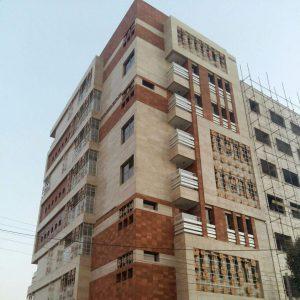 پروژه اجرای آجرنما ساختمان مسکونی شهرک قدس - قم
