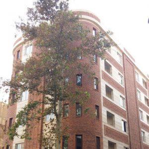 پروژه اجرای آجرنسوز نما ساختمان مسکونی - خیابان سی تیر