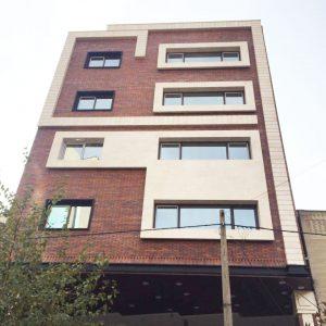 پروژه نما آجری ساختمان گلنور - اصفهان