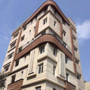 پروژه نما آجری ساختمان مسکونی نازی آباد