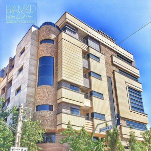 پروژه نما آجری ساختمان مسکونی پارسلند - اصفهان