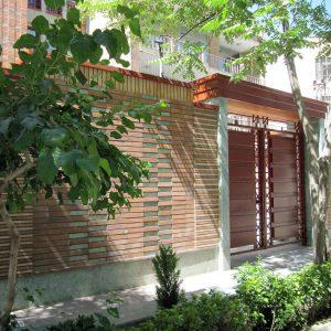 پروژه اجرا آجر نما ساختمان مسکونی - سهروردی تهران