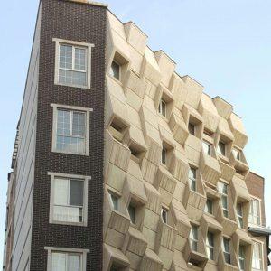 پروژه اجرای آجر نما ساختمان مینی سیتی - سوهانک تهران
