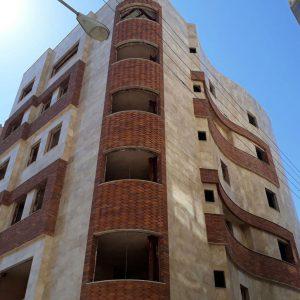 پروژه اجرای آجرنسوز نما ساختمان - سبزوار