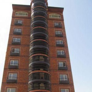 پروژه اجرای نما ساختمان آجرنسوز - برج باغ رویا