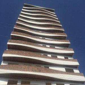 پروژه اجرا آجرنسوز نما مجتمع مسکونی خانه آرمانی - بابلسر