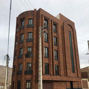 پروژه نمای ساختمان آجرنسوز - سمنان