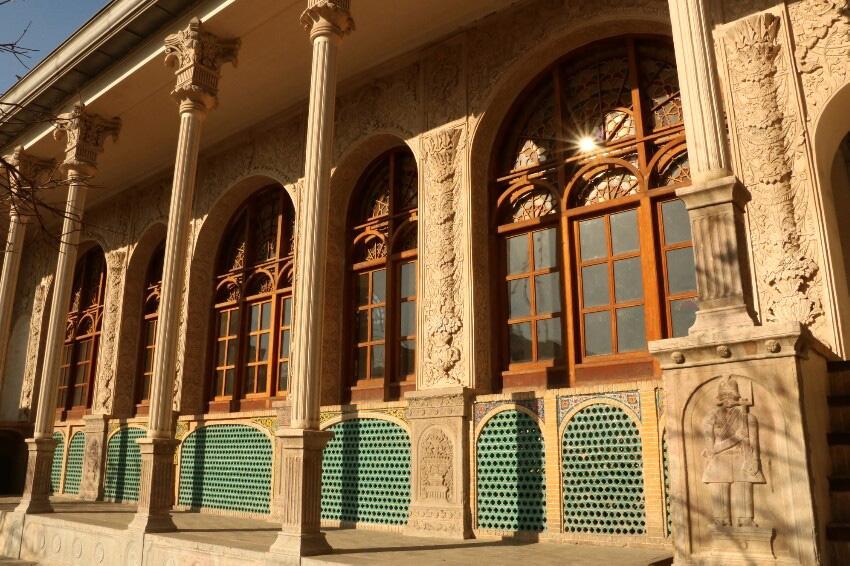 عمارت مسعودیه از نمونههای معماری آجری و آجرکاری دوران قاجار
