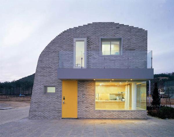 خانه پیکسلی نمونهای از معماری پارامتریک با آجر