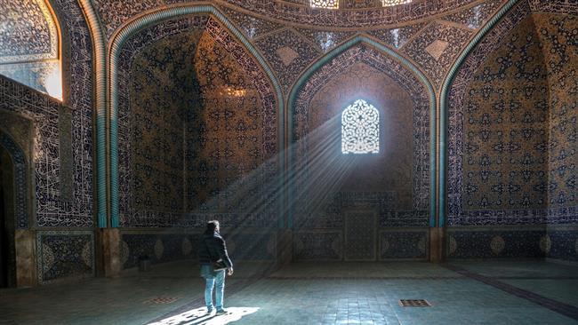 نمایی از مسجد جامع اصفهان شاهکاری در معماری ایرانی
