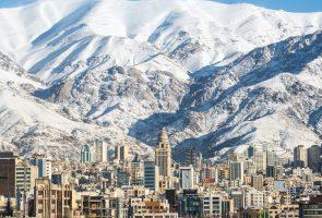 نمایی از منظر شهری شهر تهران