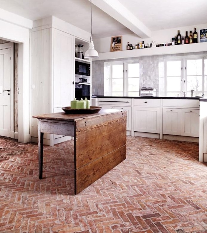 آجر کف برای استفاده در کف آشپزخانه