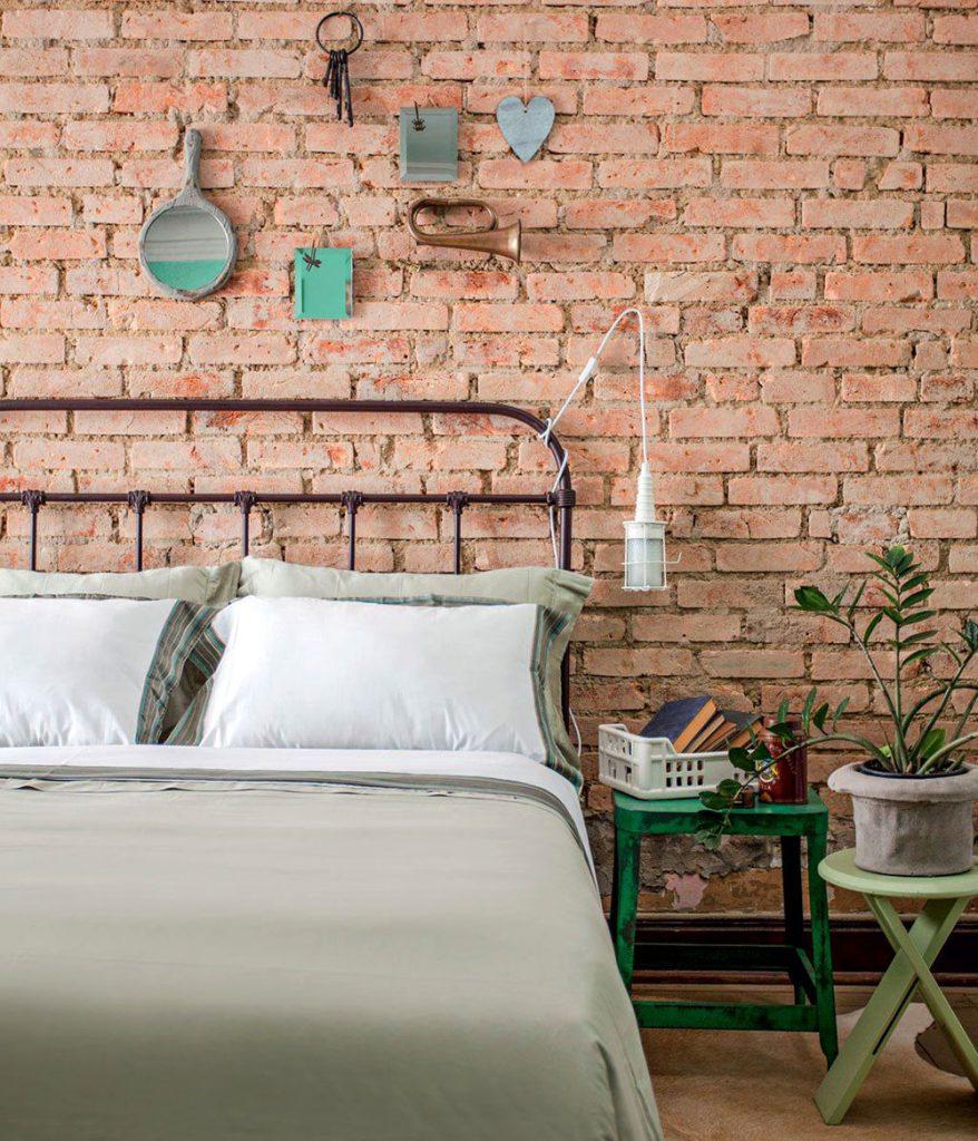 دکوراسیون داخلی و طراحی اتاق خواب با استفاده از آجر